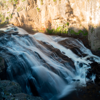 Smooth flowing waters at Gibbon Falls