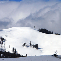 Speciman Ridge Landscape and hills covered with snow