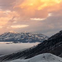 Spring sunrise from Mammoth Hot Springs