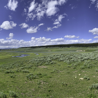 Yellowstone River valley and landscape