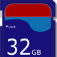 32 GB SD Card vector clipart