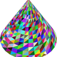 3D Prismatic Cone vector file