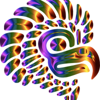 Prismatic Stylized Mexican Stylized Eagle Silhouette Vector Clipart
