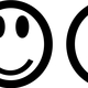 A line of smileys vector clipart