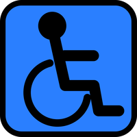 Accesibility sign vector clipart