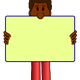 African American Man with yard sign vector clipart