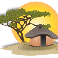 African Hut Vector Art