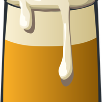Ale Dripping with foam vector clipart