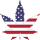 American Flag Marijuana Leaf Vector Clipart