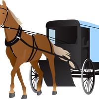 Amish Buggy vector clipart