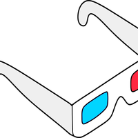 Anaglyph Glasses colored vector clipart