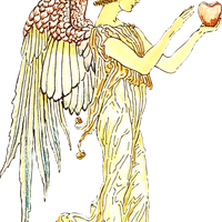 Angel with Apple Vector File