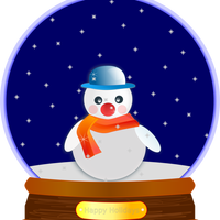 Animated Snowglobe Vector Clipart