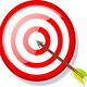 Arrow and target Vector Clipart