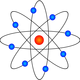 Atom Model Vector Clipart