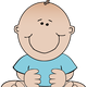 Baby Boy Sitting Vector Clipart