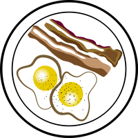 Bacon and Eggs Vector Clipart