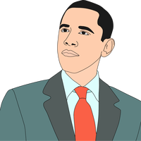 Barack Obama Portrait Vector Clipart