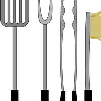 Barbecue Tools Vector Graphics