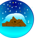 Bear Sleeping under the snow vector clipart