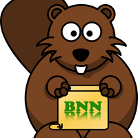 Beaver News Network Cartoon vector clipart