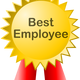 Best Employee Badge Award Vector Clipart