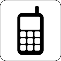 Big Cellphone Icon Vector Clipart