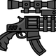 Big Gun with Scope vector clipart