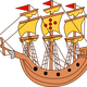 Big Sailing Ship Vector Clipart