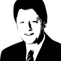 Bill Clinton Vector Graphic