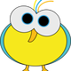 Birdie with Big Eyes Vector Clipart