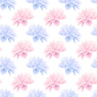 Blue and Pink Flowers Vector Clipart