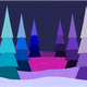 Blue and Purple Christmas Scene vector clipart