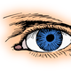 Blue Eye Vector Clipart