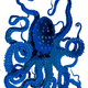 Blue Octopus Vector Clipart