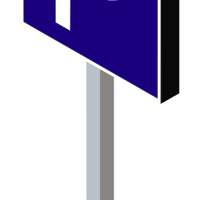 Blue Parking Sign Vector Clipart