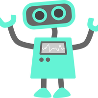 Blue Robot Vector Art