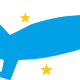 Blue Rocketship Vector Clipart