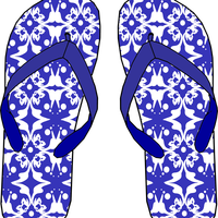 Blue Sandals Vector Clipart
