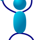 Blue Stickman vector clipart