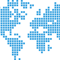 Blue Tiled Map of Earth Vector Clipart
