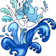 Blue Water Dancer Vector Clipart