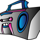 Boombox Vector Clipart face
