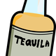 Bottle of Hard Tequila vector clipart