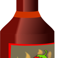 Bottle of hot sauce vector clipart
