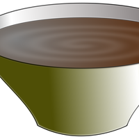 Bowl with Soup vector clipart