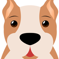 Boxer Dog Face Vector Clipart