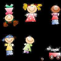 Boys and Girls Vector Clipart