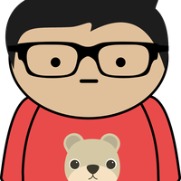 Boy with Glasses Vector Clipart