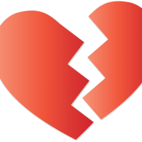 Broken Heart Vector Clipart
